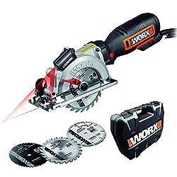 Worx WX427 Handkreissäge Worxsaw XL (710W, Handtauchsäge mit bis zu 47mm Schnitttiefe für Sägearbeiten an schwer zugänglichen Stellen, Ideal für Holz, Metall, Plastik und Stein, 1 Stück)