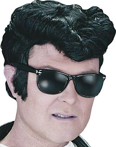 Perücke 1950 (Herren Teddy Junge Elvis Rock & Rolle Synthetisch Ausgefallen Party 1950er Jahre Greaser Fett)