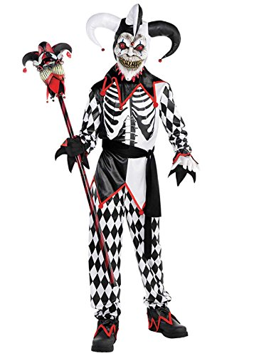 Jester Kostüm Jungen - Magic Box Int. Jungen und Teens Halloween Finster Jester Kostüm Large 8-10 years
