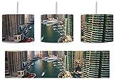 Dubai Metropole inkl. Lampenfassung E27, Lampe mit Motivdruck, tolle Deckenlampe, Hängelampe, Pendelleuchte - Durchmesser 30cm - Dekoration mit Licht ideal für Wohnzimmer, Kinderzimmer, Schlafzimmer