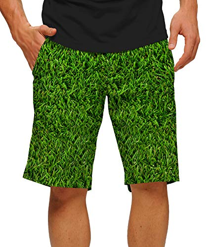 Loudmouth Golf Shorts (Loudmouth Herren Golf-Shorts, Stretch-Tech, Poly-Fun, Bright John Daly Lost Ball StretchTech, Kurze Knielänge, 27,9 cm Innennaht - Mehrfarbig - 46)