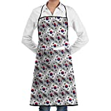 South Korea Flag 3D Art Pattern Bib Apron Chef Apron - with Pockets For Men and Women Prossional Gardening Gifts