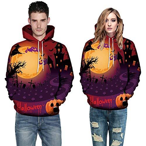 Binggong Herren Shirt,Langarmshirt Kapuzenpulli,Männer Herbst Winter Mode Weihnachten 3D Druck Hoodie Sweatshirt Top,31 Farben, Größe M-5XL
