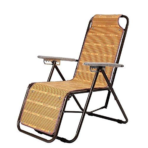LHA Balcon Pliant Chaise en Rotin Déjeuner Pause Siesta Chaise Chaise D'intérieur Chaise Longue Chaise Facile Maison Multi-Usage Chaise Longue