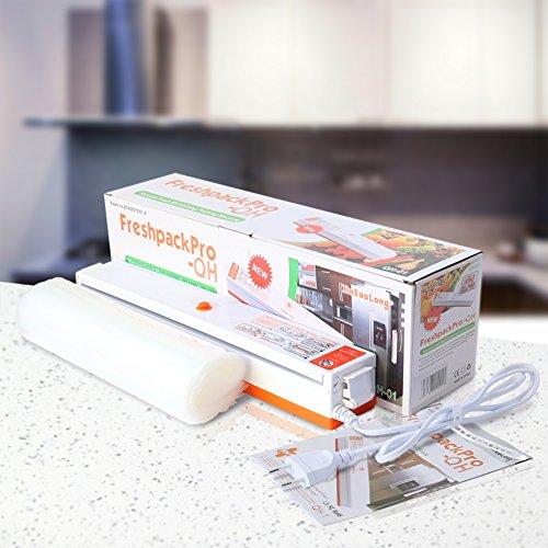 Folienschweißgerät, CrazyFire Vakuumierer für Lebensmittel, Fleisch,Früchte,Vakuum Maschine Einfach zu Bedienen inkl. 30 gratis Profi-Folienbeutel - 6