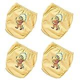 OZYOL Indianer 4er Pack Wasserdicht Baby Lernwindel Trainerhosen Unterwäsche Windeln Windelhose zum Toilettentraining Töpfchentraining (Set, 80)