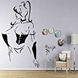 Adesivi E Murali Da Parete Sexy Sailor Moon Wall Stickers Modern Wall Sticker For Living Room Decoration Decor Accessori Murales 30Cmx53Cm