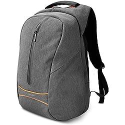 Mochila hombre con USB para Portátil, SPARIN Backpack Laptop 15,6 Pulgadas con [Puerto USB] Mochila Negocio [Anti-Robo] [IPX-4 Resistente al Agua] [Multifuncional] [Alta capacidad] Gris