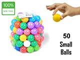 #9: EevOveE TM 50pcs Tiny Small Plastic Color Balls Genuine Quality Set of 50 (Small Size)