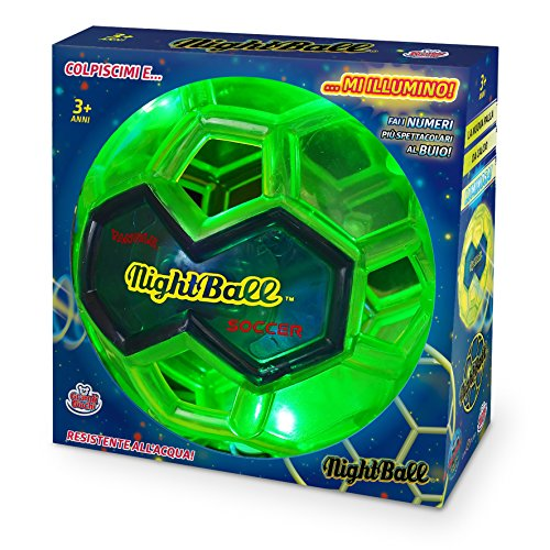 Grandi Giochi GG00230 - Night Ball, Verde Lime