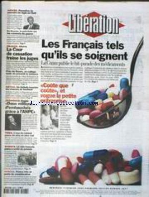 LIBERATION [No 4577] du 07/02/1996 - LES FRANCAIS TELS QU' ILS SE SOIGNENT LA CNAM PUBLIE LE HIT-PARADE DES MEDICAMENTS PASSATION DE POUVOIRS EN REGLE EN HAITI AFFAIRES - LA COUR DE CASSATION FREINE LES JUGES SPORTS - LE VELO FRANCAIS CHIRAC REMONTE LES BRETELLES AUX POLICES ATTENTATS - LE SUSPECT No1 POURSUIVI PAR SES EMPREINTES SPORTS - F1 CHARLES DENNER EST MORT CHRISTOPHE DECHAVANNE