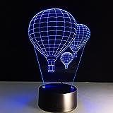 GYP 3D Kleine Tischlampe, Kreative Heißluftballon Nachtlicht Bunte USB Drei Abmessungen Visual Lights Schlafzimmer Nacht Atmosphäre Kleine Lampe Geburtstagsgeschenk Urlaub Geschenke 220 * 130 * 90mm ( größe : 220*130*90mm )