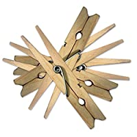 Simply Direct Value Hardwood Clothes Pegs - Wide Choice Of Pack Size - Hard Wood Long Lasting