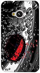 Timpax protective Armor Hard Bumper Back Case Cover. Multicolor printed on 3 Dimensional case with latest & finest graphic design art. Compatible with only HTC - M7. Design No :TDZ-21203