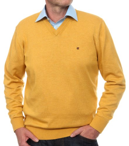 CASAMODA Pull-over Col V Manches longues Homme Jaune (gelb 530)