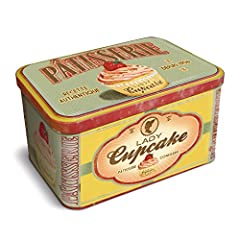 Idea Regalo - Natives 211150 Retro Lady Cupcake Patisserie - Scatola metallica per dolci/biscotti, 23 x 14 x 13 cm, soggetto: Cupcake in 3D