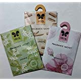 IRIS Home Fragrance Sachet - COMBO PAC - Jasmine, Sandal & Romance - S0951-JSR