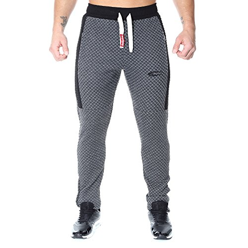 SMILODOX Slim Fit Herren Jogginghose 'Limited 1.0'| Trainingshose für Sport Fitness Gym | Sporthose - Jogger Pants - Sweatpants Hosen - Freizeithose Lang Anthrazit