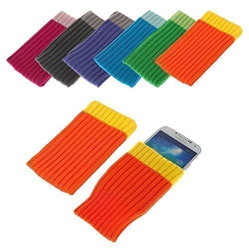 BRALEXX J2244 Textil Socke für Sony Xperia M2 Aqua (Größe: XL) orange Aqua-faceplates