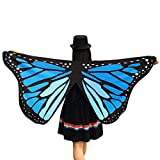Accesorio de mariposa de tela para disfraz de Halloween, marca Cinnamon, para mujer (145 x 65cm). azul Talla única