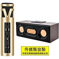 KLXEB Un Pequeño Micrófono En El Interior Y Exterior Del Teléfono Móvil Micrófono Cantando Karaoke Live Amplificador De Audio De Micrófono De Karaoke,Golden