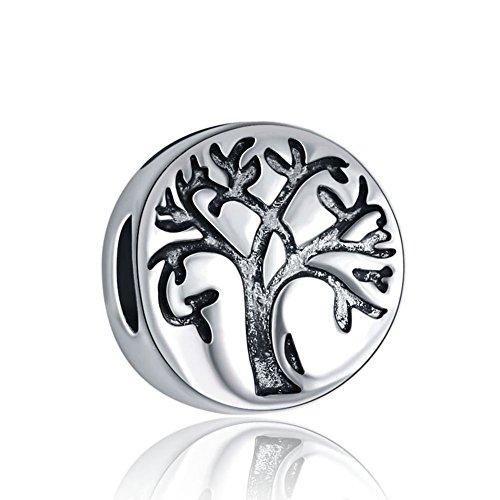 Waya cuentas corazón Me encanta mi familia árbol de la vida brillante colgante de plata encantos para pulseras brazalete