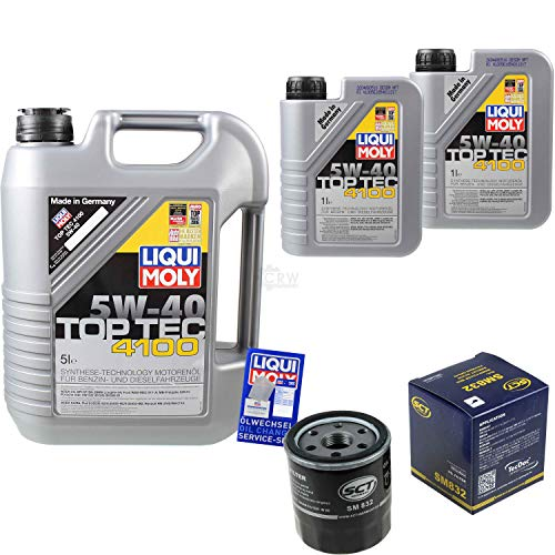 nspaket 7 Liter Liqui Moly Motoröl Top Tec 4100 5W-40 SCT Germany Ölfilter ()