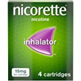 Nicorette Inhalator, 15 mg, 4 Cartridges (Quit Smoking & Stop Smoking Aid)