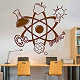 zhuziji Wissenschaft Atom Zitat Aufkleber Aufkleber Wand Vinyl Kunst Wohnkultur Lehrer Studie Schule Klassenzimmer Lustige Eon Wandbilder Poster 88A-5 L 72 cm x 70 cm