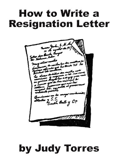 How To Write A Resignation Letter Ebook Judy Torres Amazon