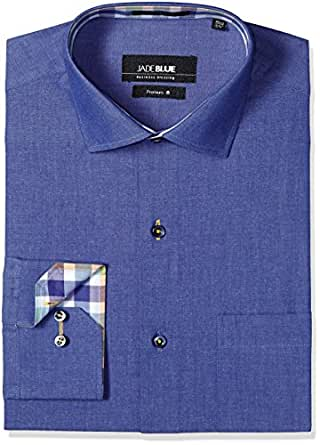 JadeBlue Men's Formal Shirt (1116303900NZJ2_00NZ_38_Blue)