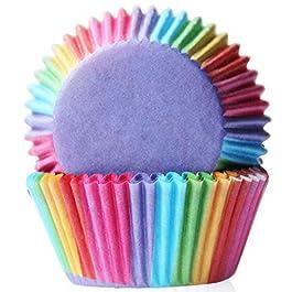 Shot–In, 100 pz pirottini per muffin e cupcake, rivestimento, incarto, coppetta di carta Rainbow