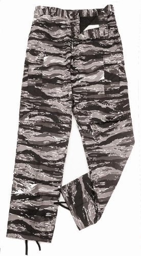 Rothco Camouflage Military BDU Pants, Army Cargo Fatigues - Urban Tiger Stripe Camouflage Desert Bdu Tiger Stripe