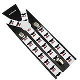 Bretelles Adulte Réglables Uniques Pour Homme Femme En Imprimés de Divers Motifs sur pantalon (13)