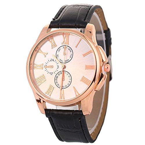 COOKDATE Unisex Armbanduhr Damen-Uhr Herren-Uhr, Armbanduhr Trend-Uhr Blogger-Uhr, analog, Quarzwerk, Elegantes Marmor-Design, Armband aus Kunst-Leder oder Metall Milanaise Weiß -
