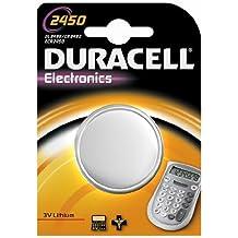 Duracell CR 2450 Litio 3V batería no-recargable - Pilas (Litio, Botón/moneda, 3 V, CR2450, Plata, Ampolla)