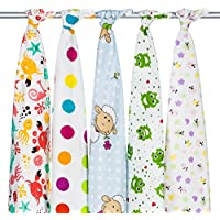 Pack di 5quadrati in flanella, set di 5teli in flanella ideale per i (Cotone Tessuto Piano Tappeto)