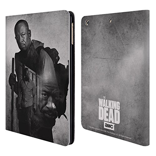 Ufficiale AMC The Walking Dead Morgan Doppia Esposizione Cover a portafoglio in pelle per Apple iPad Air