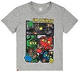 LEGO Ninjago T-Shirt Jungen Grüner Ninja Lloyd (Grau, 122-128)