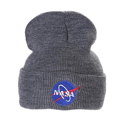Domybest NASA Cap Winter Lässige Hip Hop Hüte Gestrickte Wolle Skullies Beanie...