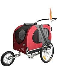 DOGGYHUT Remorque pour chien extra-grande avec kit de joggeur Remorque de vélo 1020201