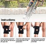 [Kniebandage] FREETOO Knieschoner atmungsaktiver Knieschützer verstellbare Knieorthese mit Gelenkschienen für Damen und Herren - 5