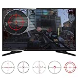 eXtremeRate FastScope No Scope TV Decal per FPS Games on PS4 PS3 Xbox One Xbox 360 PC (10 pezzi in 2 dimensioni 5 disegni)