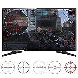 eXtremeRate FastScope TV-Abziehbild Sticker No Scope Screen Decal für FPS Spiele auf PS4 PS3 Xbox One Xbox 360 PC (10 Stück in 2 Größen 5 Designs)