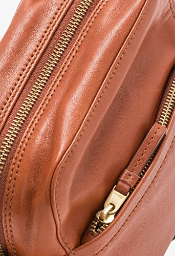 BREE, Borsa a spalla donna beige naturale 18 cm x 16cm x 8 cm (B x H x T) Whisky