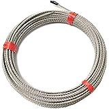 Cablematic - Cable de acero inoxidable de 4,0mm 10m