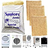 SAI PRASEEDA Air Cooler Grass Symphony Jumbo Cooling Pads Wood Wool 22 x 28 Set of 3 Pack Covering with Net Suitable for Kenstar Symphony Bajai Desert Coolers SP34