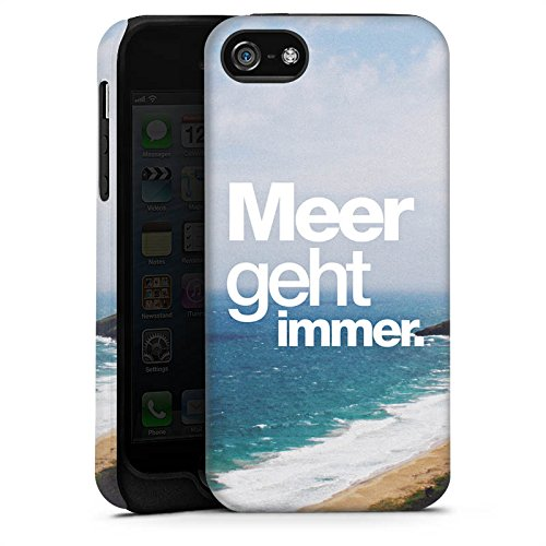 Apple iPhone X Silikon Hülle Case Schutzhülle Meer Sommer Sprüche Tough Case matt