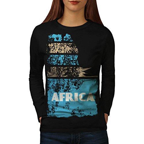 Dschungel Wüste Cool Afrika Land Leben Damen M Langarm-T-Shirt | Wellcoda (Süd-afrika T-shirt Flagge)