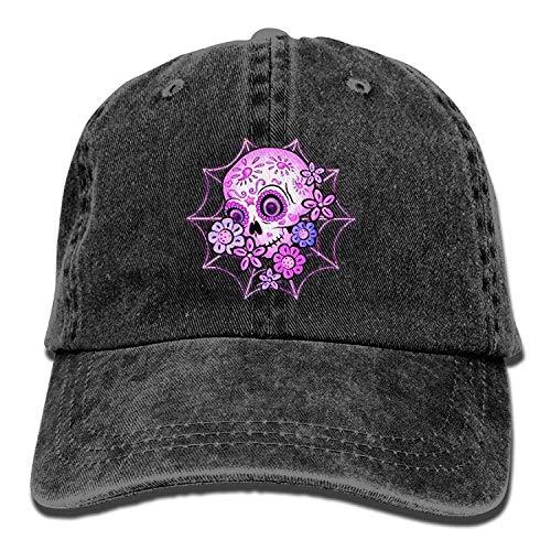 r Skull Halloween Unisex Washed Twill Cotton Baseball Cap Vintage Adjustable Dad Hat ()